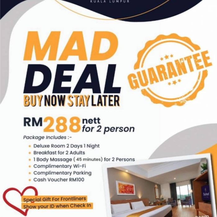 MAD DEAL !  Grab now, Stay later!